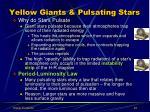 yellow giants pulsating stars1
