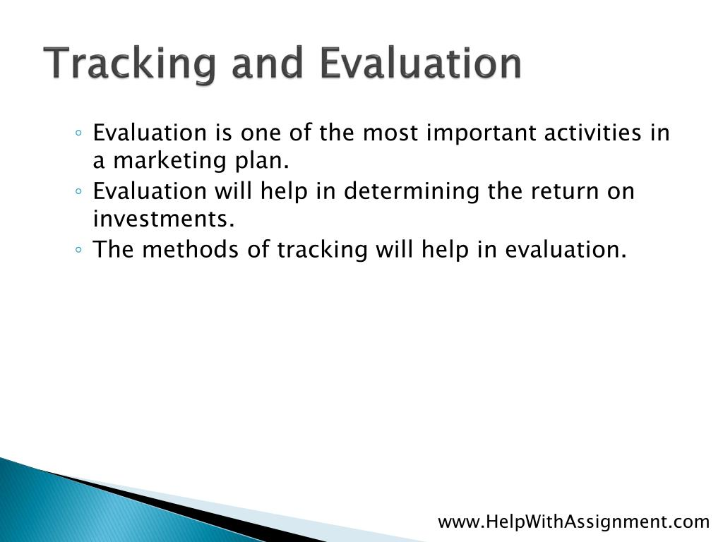 Tracking and Evaluation