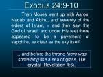 exodus 24 9 10