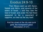 exodus 24 9 101