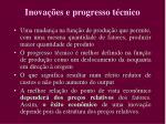 inova es e progresso t cnico