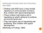 increasing interactions with children with asd