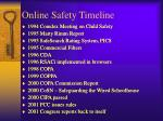 online safety timeline