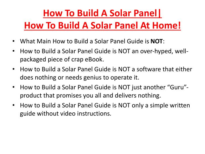 How to build a solar panel how to build a solar panel at home3