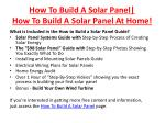 how to build a solar panel how to build a solar panel at home5