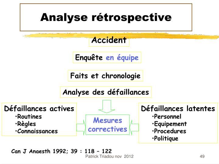 Analyse rétrospective