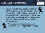 cap gap extensions