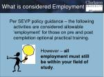 what is considered employment
