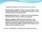ongoing challenges for the colorado river compact