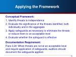 applying the framework1