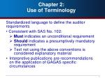 chapter 2 use of terminology
