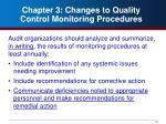chapter 3 changes to quality control monitoring procedures