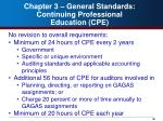 chapter 3 general standards continuing professional education cpe