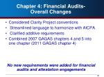 chapter 4 financial audits overall changes