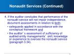 nonaudit services continued