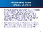 performance audits technical changes1