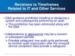 revisions to timeframes related to it and other services