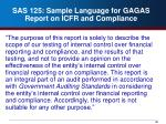 sas 125 sample language for gagas report on icfr and compliance