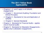 the 2011 yellow book applicability