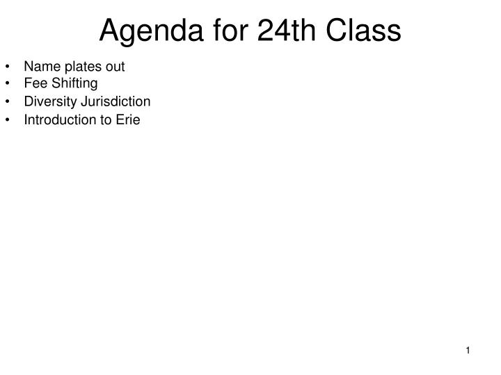 agenda for 24th class n.