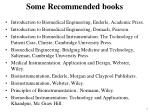 some recommended books