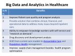 big data and analytics in healthcare