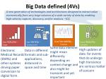 big data defined 4vs