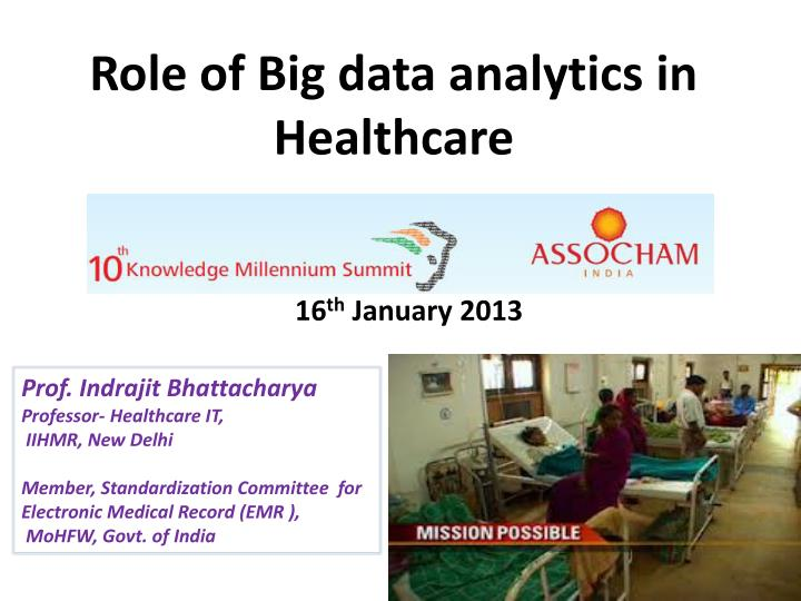 role of big data analytics in healthcare n.