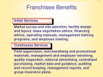 franchisee benefits