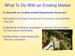 what to do with an eroding market