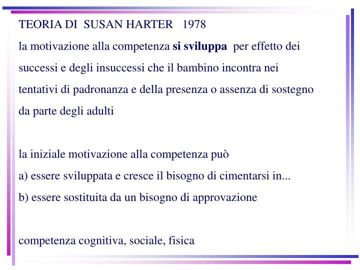 TEORIA DI  SUSAN HARTER   1978