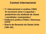 context internacional