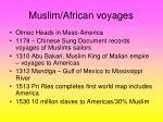 muslim african voyages