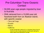 pre columbian trans oceanic contact