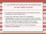 2 les diff rents polluants atmosph riques et leur mode d action1