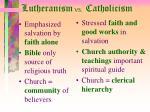 lutheranism vs catholicism