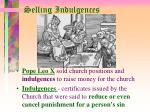 selling indulgences
