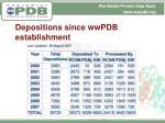 depositions since wwpdb establishment