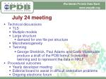 july 24 meeting