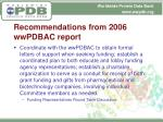 recommendations from 2006 wwpdbac report2