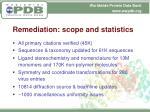 remediation scope and statistics