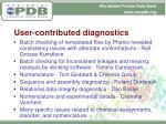 user contributed diagnostics