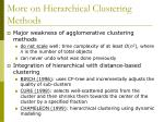 more on hierarchical clustering methods