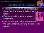 advantages of functions