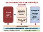 autoridades en evaluaci n y supervisi n ambiental