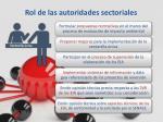 rol de las autoridades sectoriales