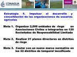 estrategia 5 impulsar el desarrollo y consolidaci n de las organizaciones de usuarios agr colas