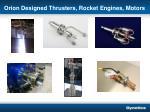 orion designed thrusters rocket engines motors
