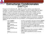 estructuras condicionales switch