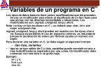variables de un programa en c1